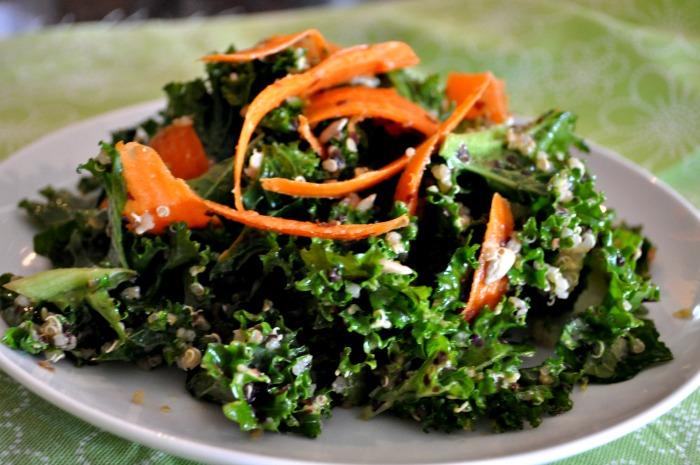 Vegan Recipe: Kale, Carrot, Quinoa & Sunflower Seed Salad