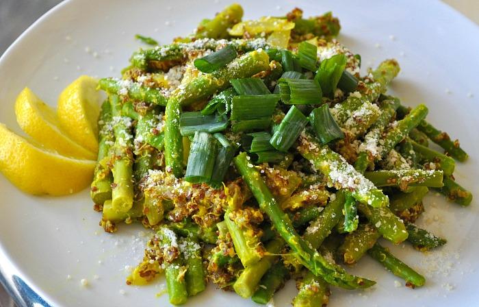 Crunchy Lemon Quinoa Asparagus Bowl