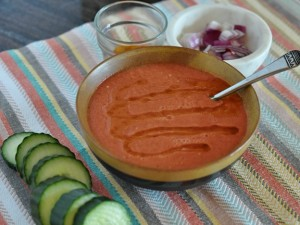raw vegan tomato gazpacho