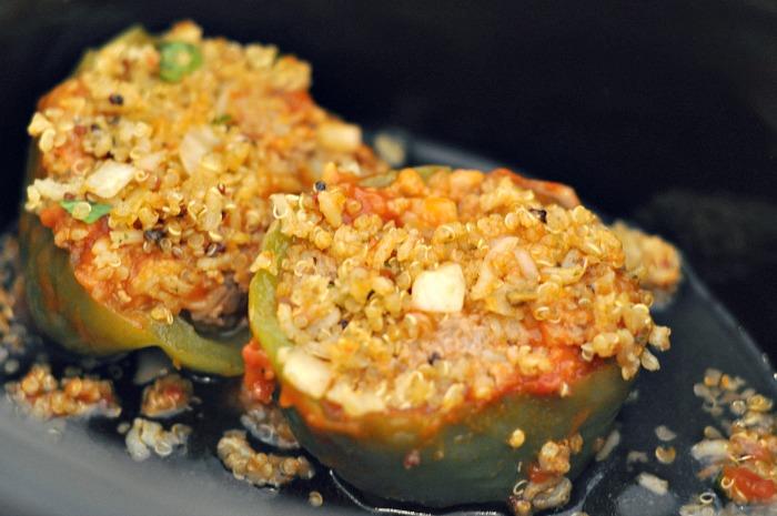 Easy Weeknight Meals: Vegetarian Crock-Pot® Slow Cooker Stuffed Peppers
