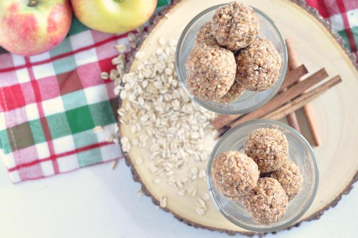 No Bake Cinnamon Apple Energy Bites
