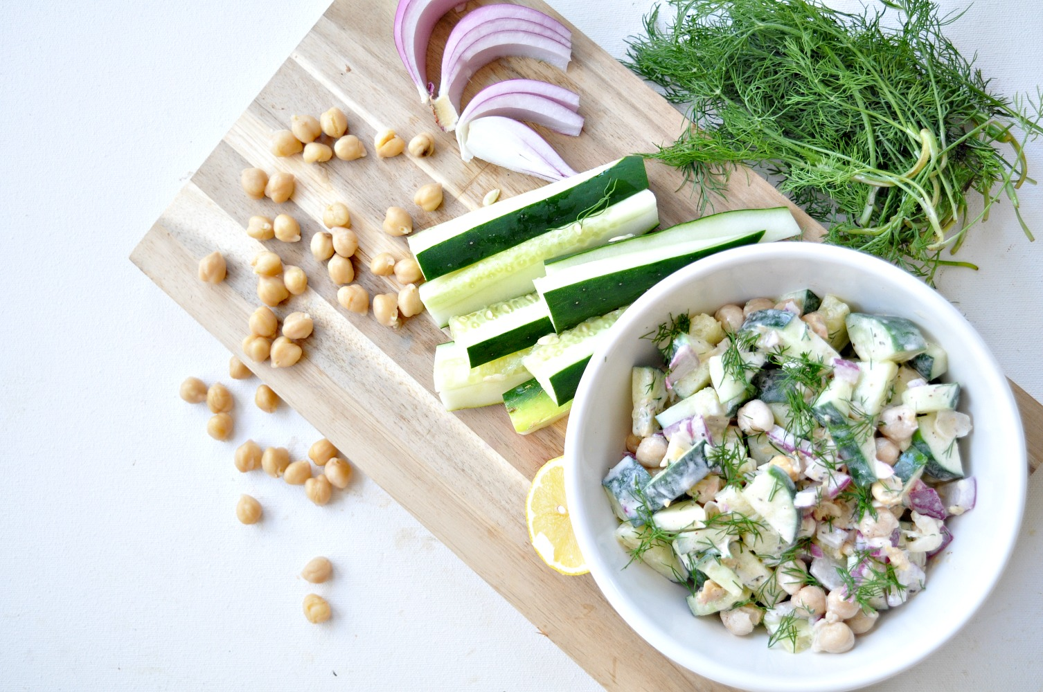 Spring Sides: Chickpea Cucumber Crunch Salad