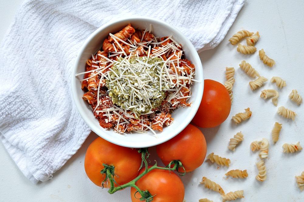 Brown Rice Pasta With Creamy Dairy-Free Tomato Sauce